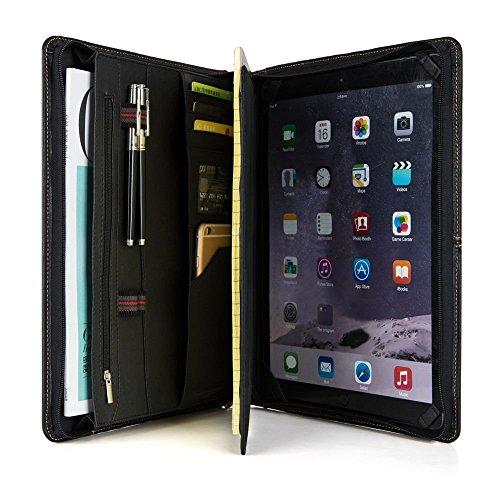rganizer Dokumentenmappe mit Reißverschluss, echtes Leder Padfolio Fall für iPad Pro 12,9,A4/A5 Notebook Papier (Benutzerdefinierte Handy Fällen)