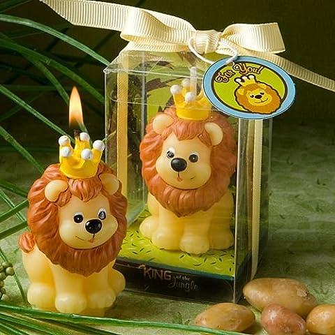 6 adorabile re della giungla Candele Baby Shower battesimo favori da regalo - (2 pezzi)
