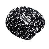 Mamum mujeres del sombrero del invierno, sombrero arco beanies nieve unisex esquiar en la nieve de punto suave cabeza caliente guarda sombreros un tamaño negro