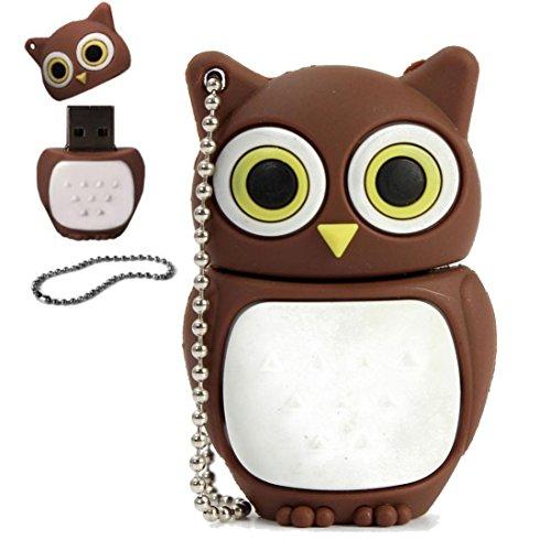 Zolimx Memory Stick Cartoon Owl USB 2.0 Flash Speicherstick Thumb U Disk, 32GB / 16GB / 8GB / 4GB / 2GB / 1GB (1GB) 4 Gb Duo