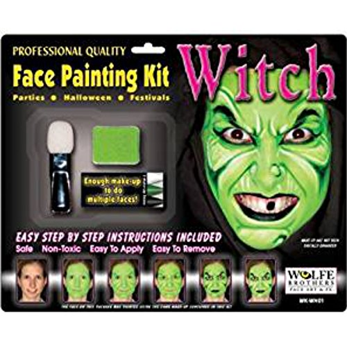 Hexe Makeup Kit Wolfe Bros mit (Up Easy Skull Make)