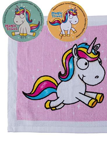 Magisches Zauber-Handtuch mit Einhorn, Llama oder Anderen Tier Motiven Waschlappen Kinder-Geburtstag Mitgebsel Geschenk-Idee Party Gewinn Spiel Give-aways (12er Set)