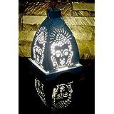 Nexplora Industries Buddha Pierced Decorative Pyramid Shaped Lantern Tealight Candle Holder