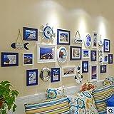 Galleria fotografica X&L Foto parete soggiorno legno massello camera da letto Mediterraneo orientale combinazione foto telaio appeso...