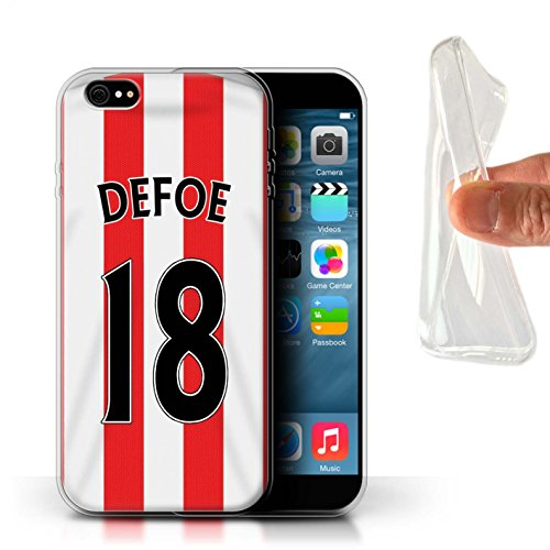 Offiziell Sunderland AFC Hülle / Gel TPU Case für Apple iPhone 6S+/Plus / Khazri Muster / SAFC Trikot Home 15/16 Kollektion Defoe
