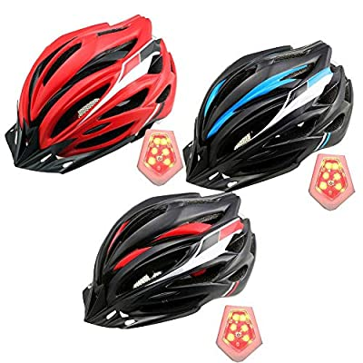 HUVE Light Weight Cycle Helmet for Bike Riding Safety - Adult Bike Helmet with Detachable Visor and Insect Net Padded for Adult Men and Women Youth Teenagers by HUVE