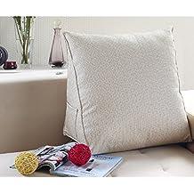 JYSPORT lumbar cojín sofá cama silla de oficina resto Almohadas Algodón Espalda Apoyo lectura almohada Funda extraíble 55 x 45 x 25 cm, 06, 55x45x25cm