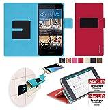 reboon Hülle für HTC Desire 728G Tasche Cover Case Bumper | Rot | Testsieger