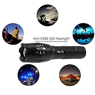 Mitlfuny New G700 Tactical Flashlight LED Military Lumi Tact Alonefire, multicolour
