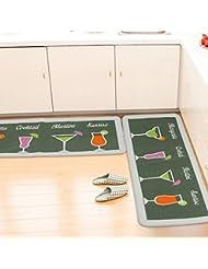 CHENGYI Alfombra La puerta del pasillo Alfombras de puerta cocina Otomanos cuarto de baño Estera antideslizante Tiras largas Absorción de agua Hogar Alfombrillas de baño alfombrillas de tierra ( Tamaño : 50*180cm )