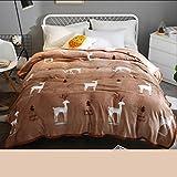 Xuan - worth having Licht Tan Tierbild Winter Schlafsaal Studenten Decke Flanell Verdicken Quilts Thermobleche ( größe : 230*250cm )