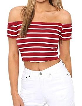 FAMILIZO Camisetas Mujer Manga Corta Camisetas Mujer Verano Blusa Mujer Sport Tops Mujer Verano Camisetas Sin...