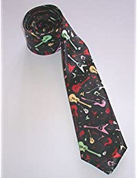 Skinny Guitar Tie Multi Coloured