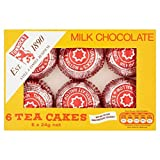 Tunnock's Tea Cakes Milk Chocolate 6 x 24g - Pack of 2