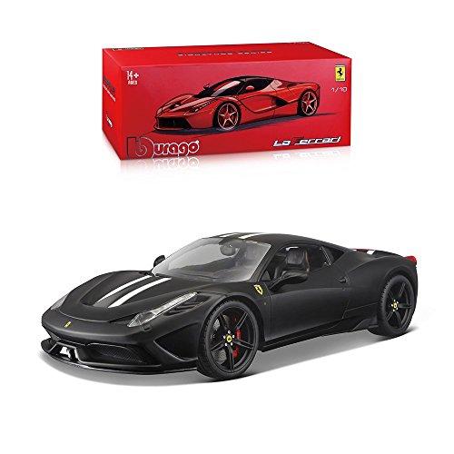 Bburago 15616903BK - 1:18 Ferrari Signature Series 458 Speciale Fahrzeug, schwarz