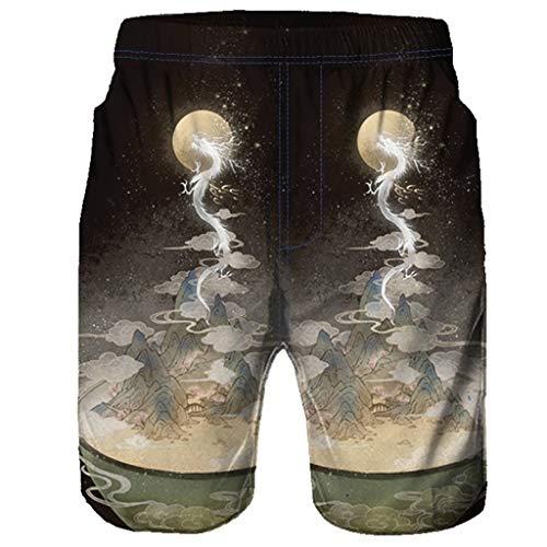 rt Casual Strand Yoga Tees Sommer Tops Männer Casual 3D Graffiti Gedruckt Strand Arbeit Casual Männer Kurze Hosen Shorts Hosen ()