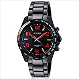 Curren Men's Black Dial Stainless Steel Band Watch (M8107BRED)