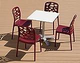 Silla GELI plastico Diseño hosteleria - Lote de 2 para terraza