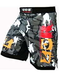 ZOR Pantalones cortos para deportes de contacto, UFC, MMA, lucha, Muay Thai, boxeo, kickboxing, diseño de camuflaje urbano del ejército o camuflaje verde, Camou-Urban