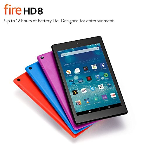 """Fire HD 8 Tablet, 8"""" HD Display, Wi-Fi, 32 GB (Black) - Includes Special Offers"""