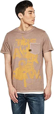 G-STAR RAW Men's Bird Pocket Straight T-Shirt