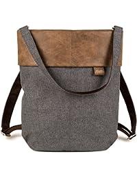 ZWEI Olli OR12 Rucksack + Tasche 2in1 Damen Backpack A4 33x34x14 cm (BxHxT)