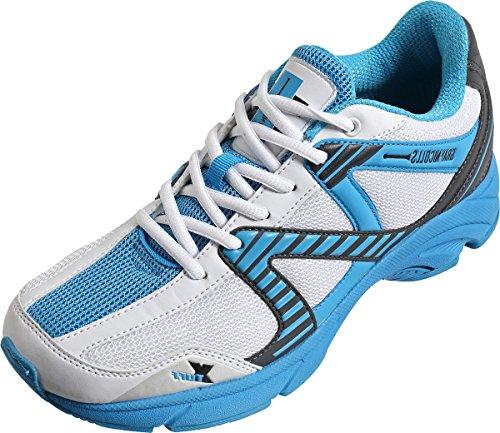 GRAY NICOLLS Velocity Cricket Sports Spieler Schuhe Senior Blue Spike Schuhe 33 cm (Cricket-spieler)