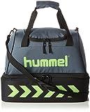 Hummel Authentic Soccer Bag – Dark Slate/Green Flash Gris Dark Slate/Green Flash Talla:42 x 42 x 42 cm, 42 Liter
