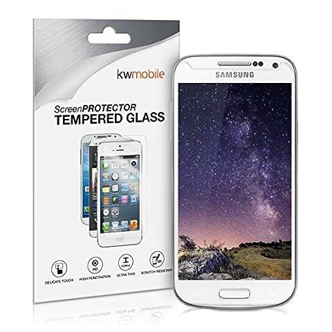 kwmobile Panzerglas Displayschutzfolie für Samsung Galaxy S4 Mini i9190 / i9195 - Transparentes Schutzglas Folie Handy Schutzfolie Displayschutz Glasfolie Echtglas Displayschutz klar