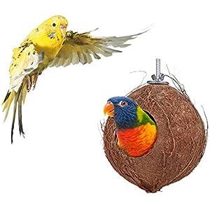 Decdeal Kokosnuss Kugelhaus Vogelhaus aus Kokosnuss-Shell