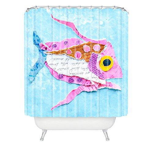 elizabeth-st-hilaire-nelson-trigger-fish-on-azul-cortina-de-ducha-69-x-72