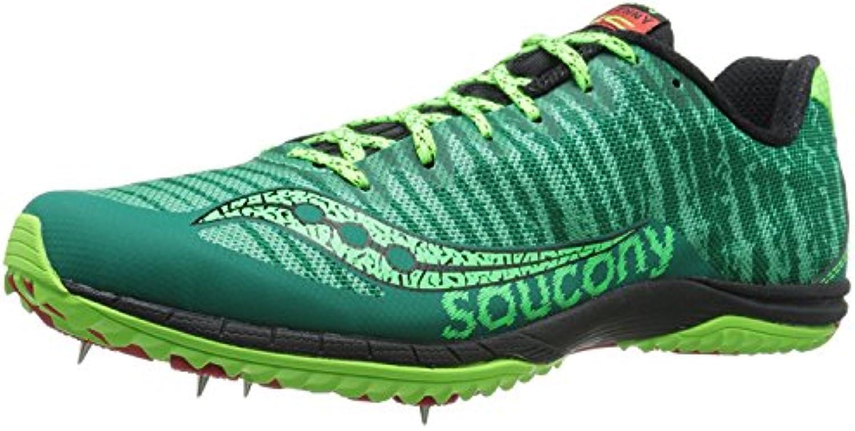 Saucony Men's Kilkenny XC5 Cross-Country Shoe, Green/Citron/Red, 49 D(M) EU/13 D(M) UK