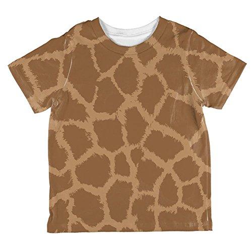 (Unbekannt Halloween-Giraffe Muster Kostüm Aller Kleinkind T Shirt Multi 6 t)