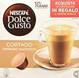 Nescafé Dolce Gusto Cortado Espresso Macchiato, Kaffee, Kaffeekapsel, 16 Kapseln