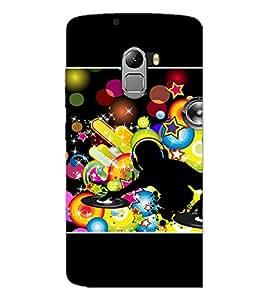 PrintDhaba DJ D-1421 Back Case Cover for LENOVO K4 NOTE A7010 (Multi-Coloured)