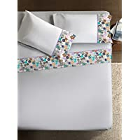 Ipersan Bijoux Armonías completo con Foto Edge, algodón, blanco y Multi, Doble