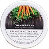 Carrot Tissue Regenerating, Soothing Balm for Dry, Cracked Feet by Chambers & Co With Hemp Oil and Avocado