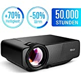 RAGU Z400 Mini Projector Portable Home Entertainment LED Projector 800x480 Resolution Supports Full HD 1080P for PC Laptop PS4 XBOX Smartphone Android iPhone TV Box Black