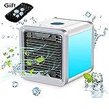 YANIPINGLA Air Cooler, 3 In 1 Mini Condizionatore D'aria Portatile, Umidificatore E Purificatore A 3 Velocità Per Una Scrivania Da Ufficio A Casa Fredda E Fresca