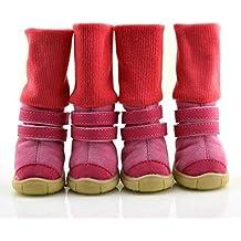 xueyan& Dog zapatos dobles con botas de nieve perro desgaste antideslizante SHOES otoño e invierno algodón