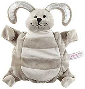 Sleepytot Bunny Comforter and Soother Holder, Baby Sleep Aid Attachable in Grey