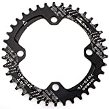 CYSKY Schmal Breit Kettenblatt 104BCD Pin Bike Single Kettenblatt für 91011Speed Road Bike Mountain Bike BMX (Schwarz)