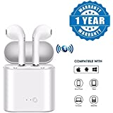 Captcha Bluetooth 4.1 Mini Sports Airpods With Portable Charging Case For Android/iOS Devices (Color May Vary)