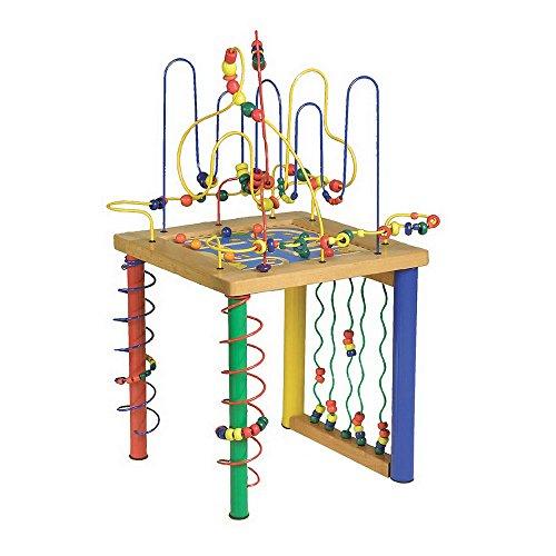 """Small Foot by Legler Motorikschleife """"Spieltisch"""" mit zwölf Motorikschleifen und einem -Labyrinth, kindgerechte Größe für stundenlangen Spielspaß, für viele Kinderhände ab 3 Jahren"""