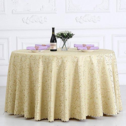 BSNOWF- Nappes Banquet Réunion de mariage Accueil Nappe de table Restaurant Activités Place Exposition Stand Nappe Fibre chimique Taille de tissu En option ( Couleur : D , taille : Round-320cm )