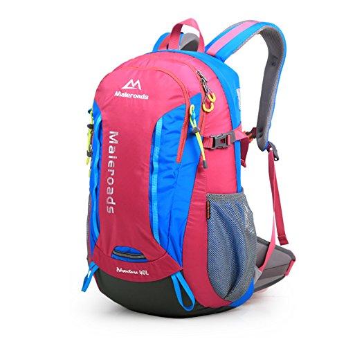 Borsa allaperto alpinismo/zaino/Uomini e donne su sacchetti allaperto di piede-verde 40L Rose Red