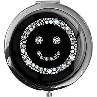 """metALUm - Extragroße Pillendose in runder Form""""Smiley in Silber"""" preisvergleich bei billige-tabletten.eu"""