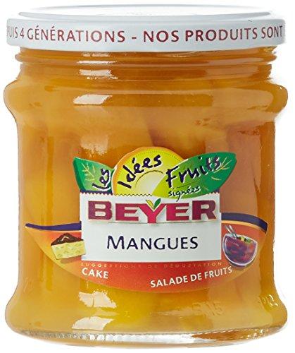 Beyer Les Idées Fruits Mangues au Sirop 165 g