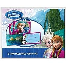 Frozen - 6 invitaciones con sobre (Verbetena 014001263)