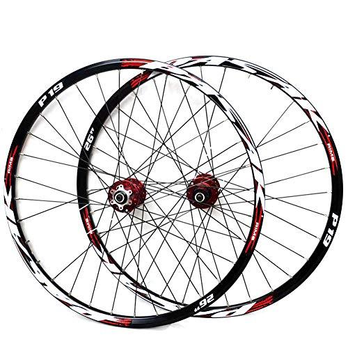 LYzpf Fahrrad Laufrad Mountainbike Rad Vorne Hinten Set Felgen Disc 26/27.5/29 Inch Zubehör Aus Aluminum Alloy,red,29inch (Mountainbike 29-zoll-felgen)